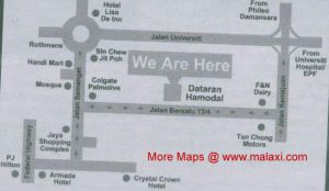 Map to Dataran Hamodal