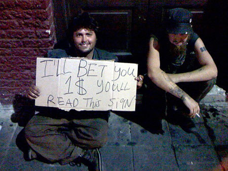 Funniest homeless sign 3