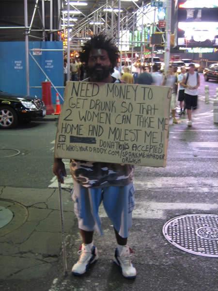 Funniest homeless sign 6