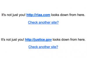 DOJ Website Hacked