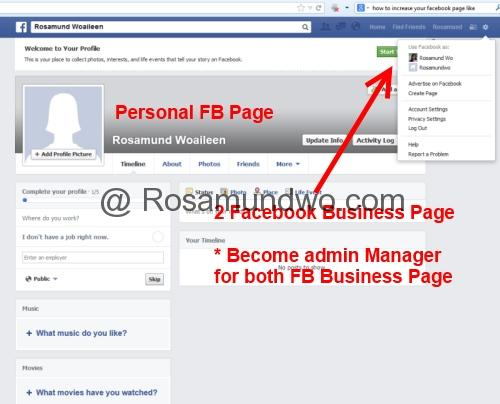 How to merge facebook business page01