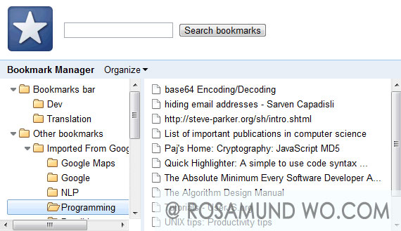 chrome-web-bookmark-manager