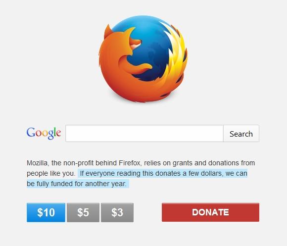 mozilla Donation