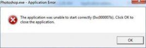 photoshop application error